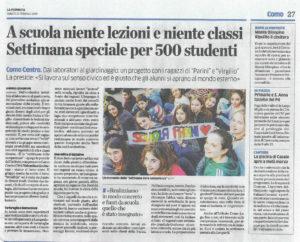 """Articolo """"La Provincia"""" 23/02/2019"""